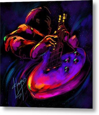 Untitled Guitar Art Metal Print by DC Langer