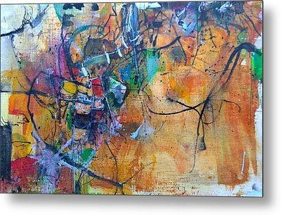 Metal Print featuring the painting Untitled Or Ink Flow by Robert Anderson