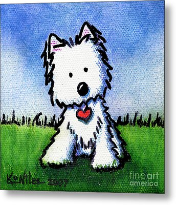 Untitled Westie Metal Print