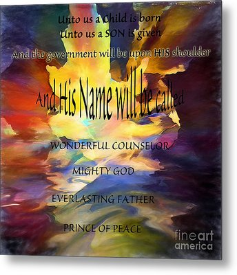 Unto Us Metal Print