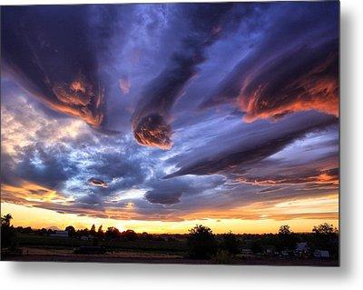 Alien Cloud Formations Metal Print by Lynn Hopwood