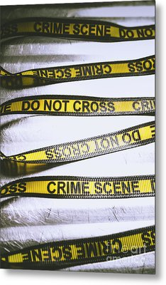 Unwrapping A Murder Investigation Metal Print by Jorgo Photography - Wall Art Gallery