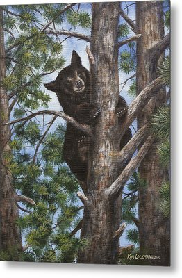 Metal Print featuring the painting Up A Tree by Kim Lockman