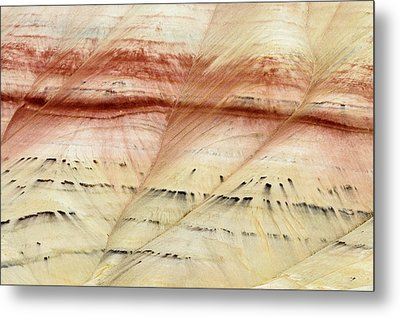 Metal Print featuring the photograph Up Close Painted Hills by Greg Nyquist