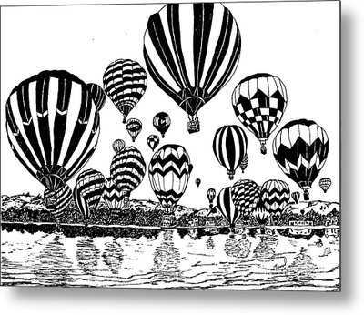 Up In The Air Metal Print by Vicki  Housel