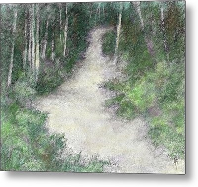 Up Into The Woods Colorized Metal Print by David King