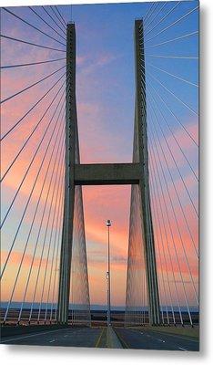 Up On The Bridge Metal Print by Kathryn Meyer