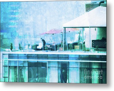 Metal Print featuring the digital art Up On The Roof - II by Mary Machare
