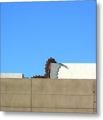 Up On The Roof Metal Print by Lin Haring