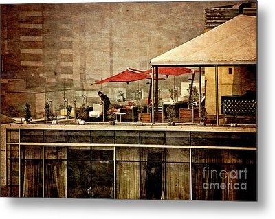 Metal Print featuring the photograph Up On The Roof - Miraflores Peru by Mary Machare