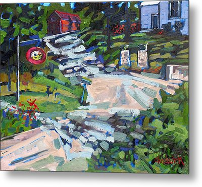Uphill In Rockport Metal Print by Phil Chadwick