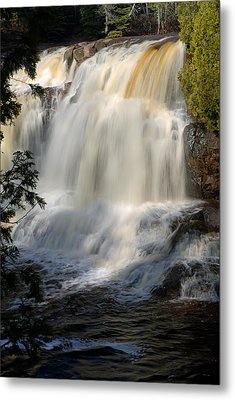 Upper Falls Gooseberry River 2 Metal Print by Larry Ricker