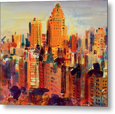 Upper Manhattan Metal Print by Peter Graham