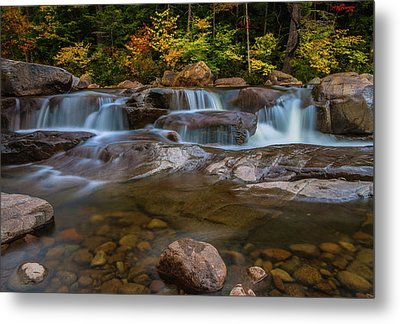 Metal Print featuring the photograph Upper Swift River Falls In White Mountains New Hampshire by Ranjay Mitra