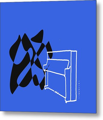 Metal Print featuring the digital art Upright Piano In Blue by Jazz DaBri