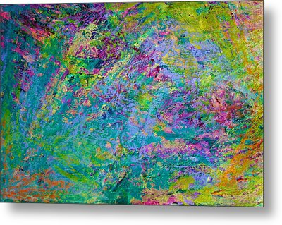 Metal Print featuring the painting Uprising Color Poem by Polly Castor