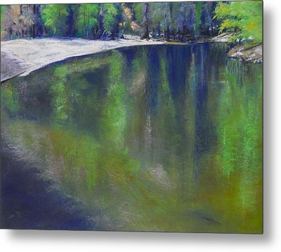 Upriver View Metal Print