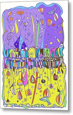 Upside Down Garden Metal Print by Linda Kay Thomas