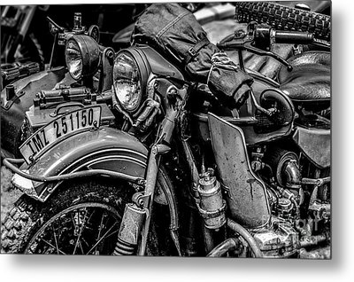 Metal Print featuring the photograph Ural Patrol Bike by Anthony Citro
