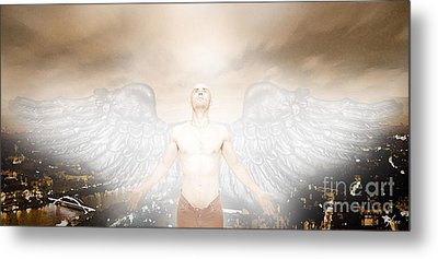 Urban Angel Metal Print by Carrie Jackson