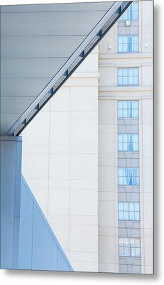 Urban Building Abstract Metal Print by Karol Livote