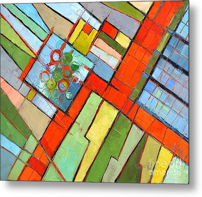Urban Composition - Abstract Zoning Plan Metal Print