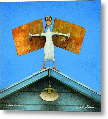 Metal Print featuring the painting urban Icarus... by Will Bullas