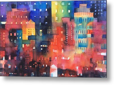 urban landscape 8 - Shadows and lights Metal Print by Alessandro Andreuccetti
