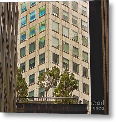 Urban Living In San Francisco Financial District Metal Print by Mark Hendrickson