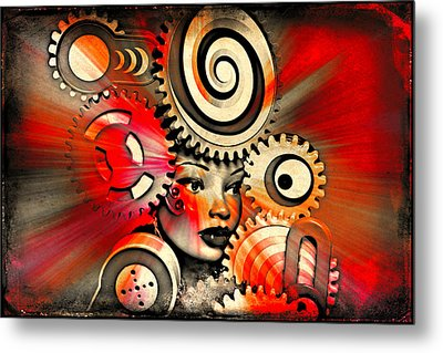 Urban Medusa Metal Print by Jeff  Gettis
