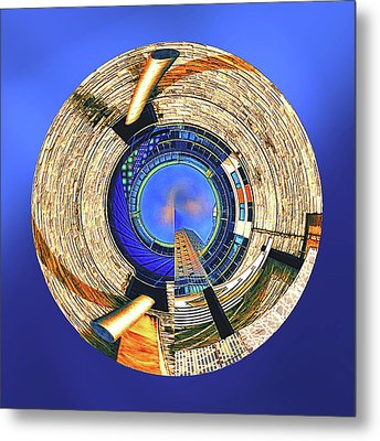 Metal Print featuring the digital art Urban Order by Wendy J St Christopher