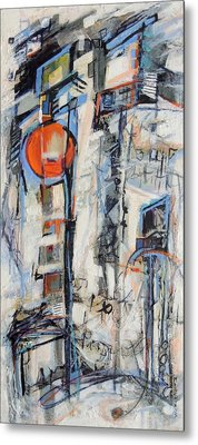 Metal Print featuring the painting Urban Street 1 by Mary Schiros