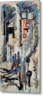 Metal Print featuring the painting Urban Street 2 by Mary Schiros
