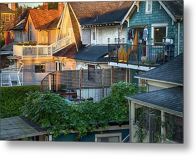 Metal Print featuring the photograph Urban Vancouver by Theresa Tahara