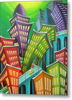 Urban Vertigo Metal Print by Eva Folks