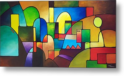 Urbanity 2 Metal Print by Sally Trace