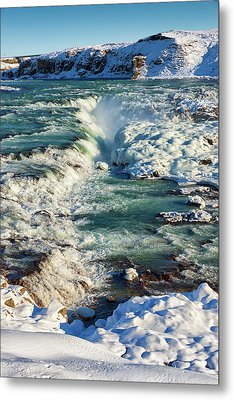 Metal Print featuring the photograph Urridafoss Waterfall Iceland by Matthias Hauser