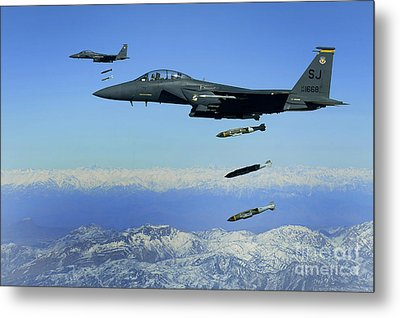 U.s. Air Force F-15e Strike Eagle Metal Print by Stocktrek Images