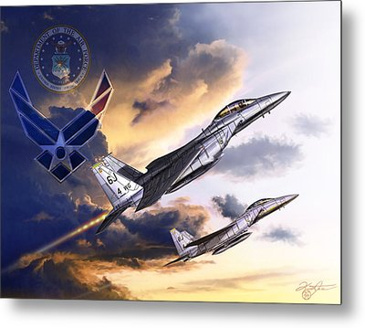 Us Air Force Metal Print by Kurt Miller