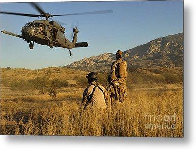 U.s. Air Force Pararescuemen Signal Metal Print by Stocktrek Images