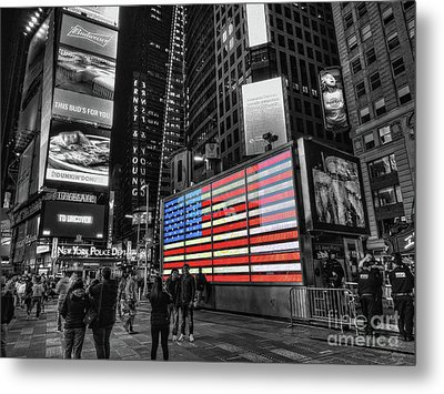 U.s. Armed Forces Times Square Recruiting Station Metal Print