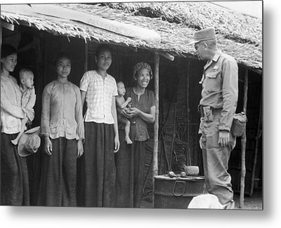 U.s. Army Advisors In Vietnam Metal Print
