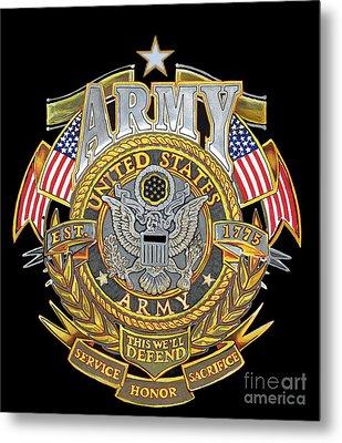 Us Army Metal Print by Bill Richards