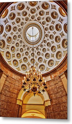 Metal Print featuring the photograph Us Capitol Rotunda Washington Dc by Susan Candelario