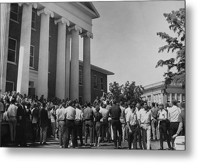 Us Civil Rights. A Crowd Of Students Metal Print by Everett