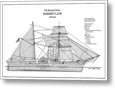 U.s. Coast Guard Revenue Cutter Harriet Lane Metal Print by Jose Elias - Sofia Pereira