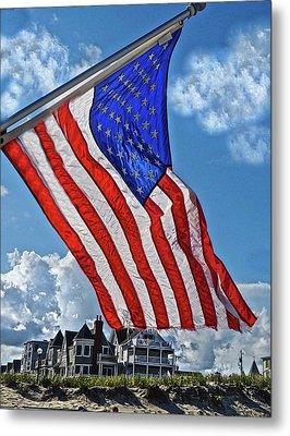 Us Flag,ocean Grove,nj Flag Metal Print by Joan Reese