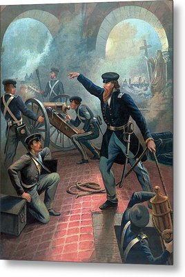 U.s. Grant At The Capture Of The City Of Mexico Metal Print by War Is Hell Store