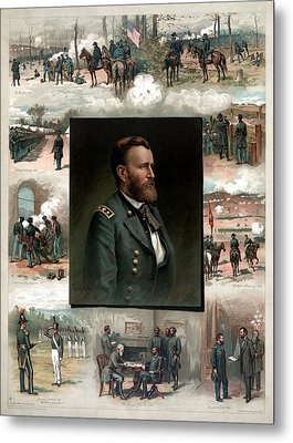 Us Grant's Career In Pictures Metal Print by War Is Hell Store