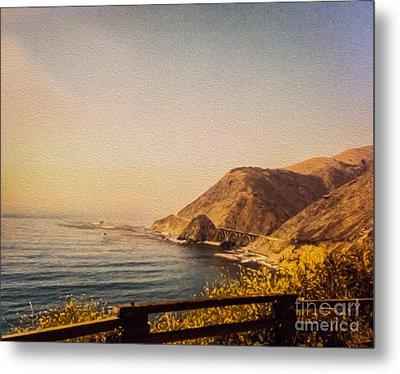 California Highway One Metal Print